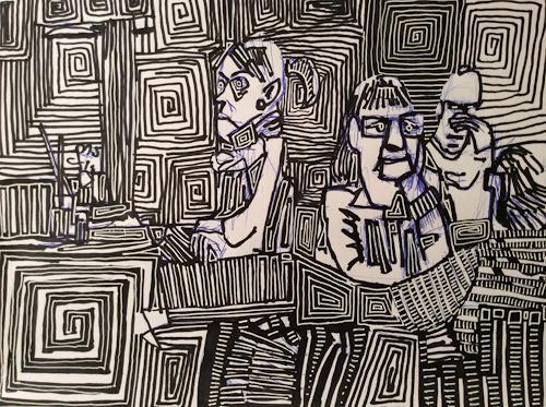 eugen lötscher, don't think so much, 21. januar 2015, Gesellschaft, Humor, Gegenwartskunst, Abstrakter Expressionismus