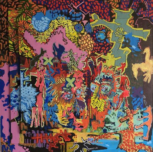 eugen lötscher, monumental equilibrium, 2014 / 15, Menschen, Landschaft, Gegenwartskunst, Abstrakter Expressionismus