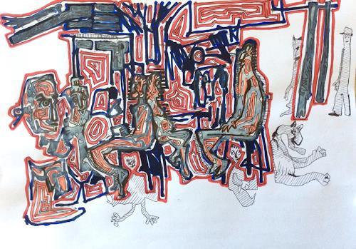 eugen lötscher, intergalaktischer tourismus, 8. juni 2015, Menschen, Menschen, Gegenwartskunst