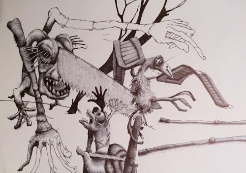 eugen lötscher, die türe, 16. dezember 2016, Menschen, Menschen, Gegenwartskunst, Abstrakter Expressionismus