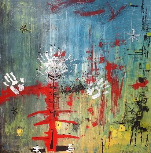 eugen lötscher, O/T, Menschen, Menschen, Abstrakte Kunst, Abstrakter Expressionismus
