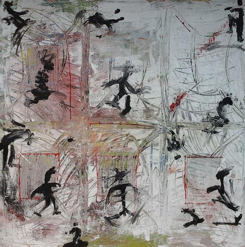 eugen lötscher, die schatten, Menschen, Menschen, Abstrakte Kunst, Abstrakter Expressionismus