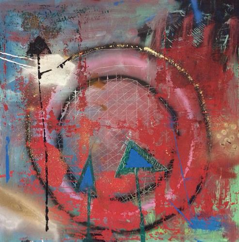 eugen lötscher, drei rottannen im anflug, Landschaft, Menschen, Abstrakte Kunst, Abstrakter Expressionismus