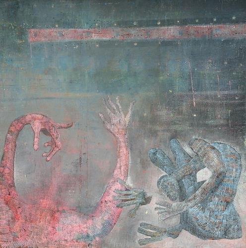 eugen lötscher, please listen, Fantasie, Diverse Landschaften, Gegenwartskunst, Abstrakter Expressionismus