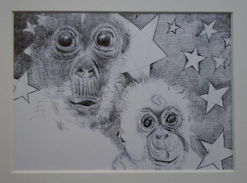 eugen lötscher, frohe festtage!, Diverse Tiere, Gefühle: Freude, Abstrakte Kunst