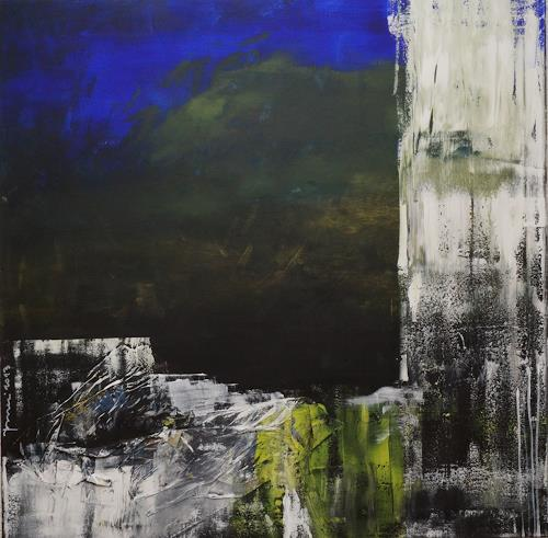 Remo Passeri, Winternacht, Abstraktes, Abstrakte Kunst, Abstrakter Expressionismus
