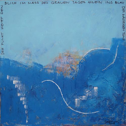 Remo Passeri, blau, Abstraktes, Abstrakte Kunst