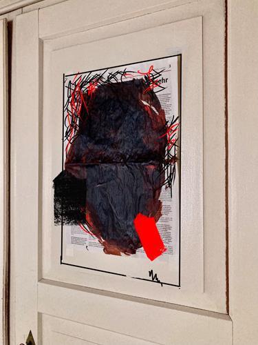 Remo Passeri, news von heute - morgen werden sie übermalt, Abstraktes, Abstrakte Kunst