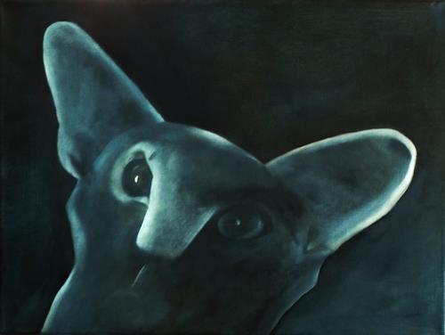 Hanna Rheinz, Ich sehe Dir in die Augen, Tiere, Fantasie, expressiver Realismus, Abstrakter Expressionismus