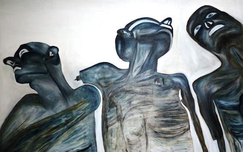 Hanna Rheinz, Ausgewählte Drei von X, Menschen, Krieg, Gegenwartskunst, Abstrakter Expressionismus