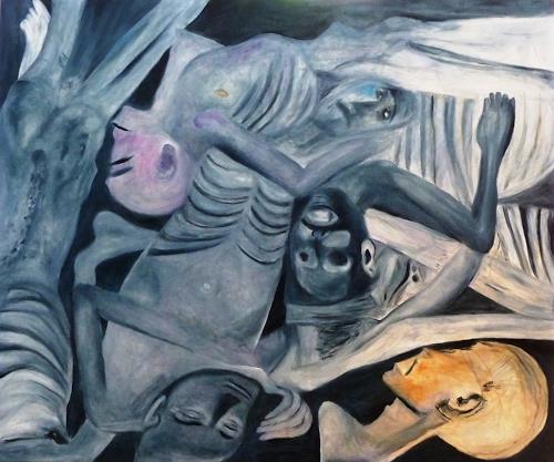 Hanna Rheinz, Nach dem Morden, Menschen, Krieg, Gegenwartskunst, Abstrakter Expressionismus