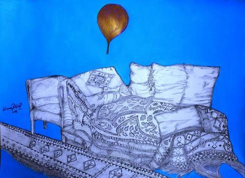 Hanna Rheinz, Verlassenes Sofa, Diverse Menschen, Symbol, expressiver Realismus, Abstrakter Expressionismus