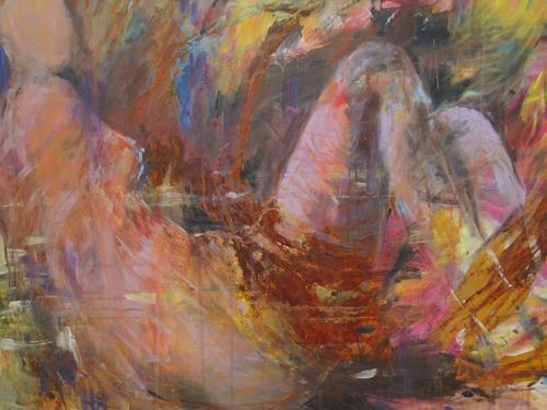 Barbara Schauß, Lady Rust, Akt/Erotik: Akt Frau, Abstraktes, Gegenwartskunst, Expressionismus