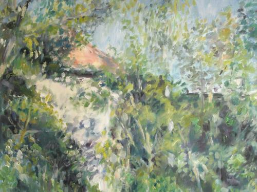 Barbara Schauß, Wiesenmühle, Natur, Landschaft, Impressionismus