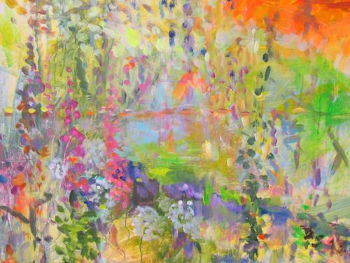 Barbara Schauß, secret garden II, Natur, Pflanzen, Postimpressionismus