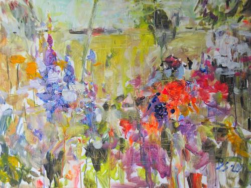 Barbara Schauß, secret garden I, Natur, Pflanzen, Gegenwartskunst, Expressionismus