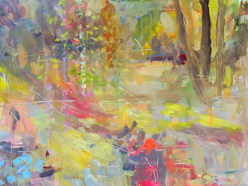 Barbara Schauß, secret garden III, Natur, Pflanzen: Blumen, Impressionismus, Expressionismus