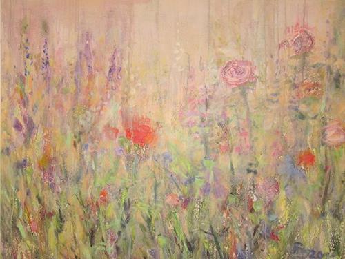 Barbara Schauß, Blumenzauber, Natur, Pflanzen: Blumen, Postimpressionismus