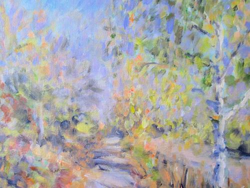 Barbara Schauß, Frühlingsimpression, Landschaft: Frühling, Natur, Impressionismus