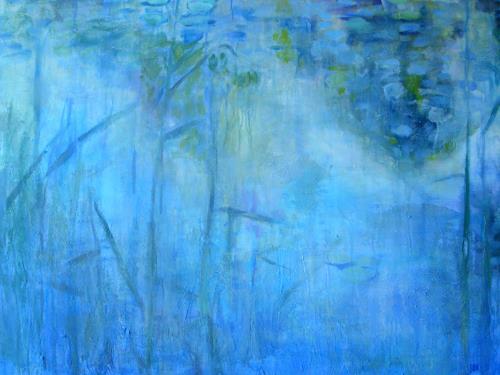 Barbara Schauß, blue morning, Natur: Wasser, Landschaft, Impressionismus
