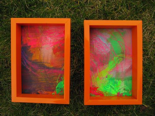 Barbara Schauß, think pink duo, Abstraktes, Diverse Landschaften, Gegenwartskunst