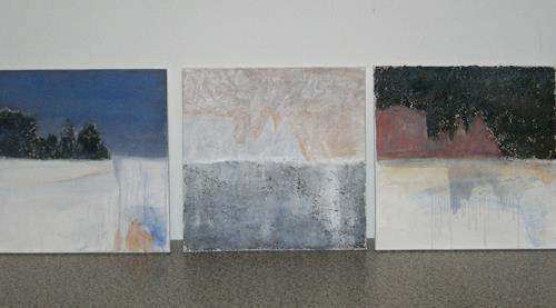 Barbara Schauß, Schlern Trilogie, Landschaft: Berge, Abstraktes, Gegenwartskunst