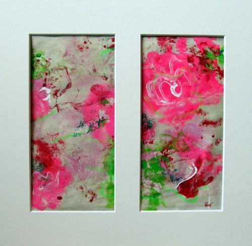 Barbara Schauß, springtime 15, Abstraktes, Pflanzen: Blumen, Gegenwartskunst