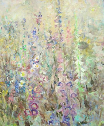 Barbara Schauß, summertime 15, Pflanzen: Blumen, Natur: Diverse, Impressionismus, Expressionismus