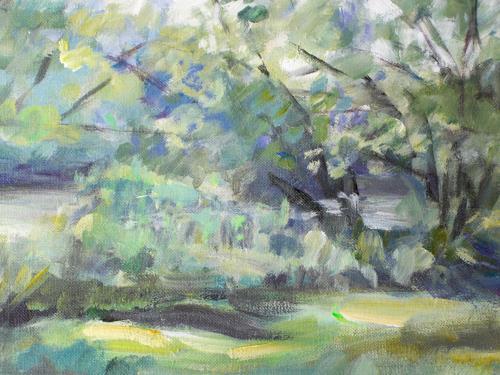 Barbara Schauß, Main-Auen, Diverse Landschaften, Natur: Wasser, Impressionismus