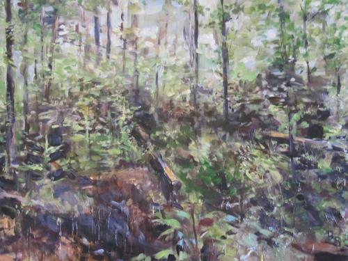 Barbara Schauß, Im Wald, Landschaft, Natur: Wald, Gegenwartskunst