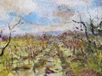 Barbara-Schauss-1-Landschaft-Diverse-Pflanzen-Moderne-Impressionismus