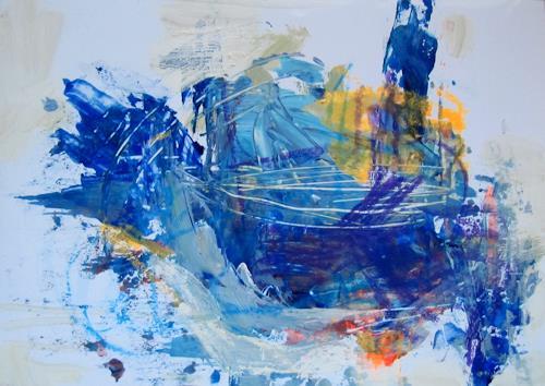 Barbara Schauß, Don`t pay the ferryman, Menschen, Abstraktes, Gegenwartskunst, Abstrakter Expressionismus