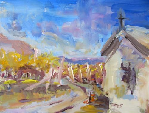 Barbara Schauß, Appiano, Landschaft, Diverses, Impressionismus
