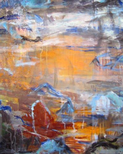 Barbara Schauß, born to be wild Detail, Abstraktes, Landschaft, Gegenwartskunst