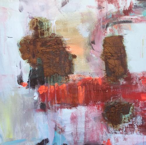 Barbara Schauß, HOT SUMMER NIGHT II, Abstraktes, Diverses, Abstrakter Expressionismus