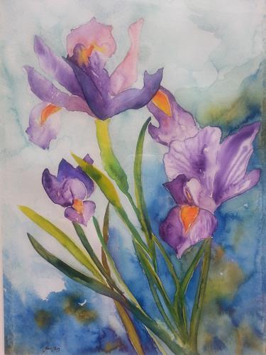 Jean, Lilie, Pflanzen: Blumen, Gegenwartskunst