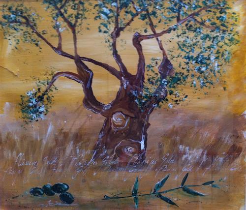 Jean, Der Olivenbaum, Pflanzen: Bäume, Gegenwartskunst
