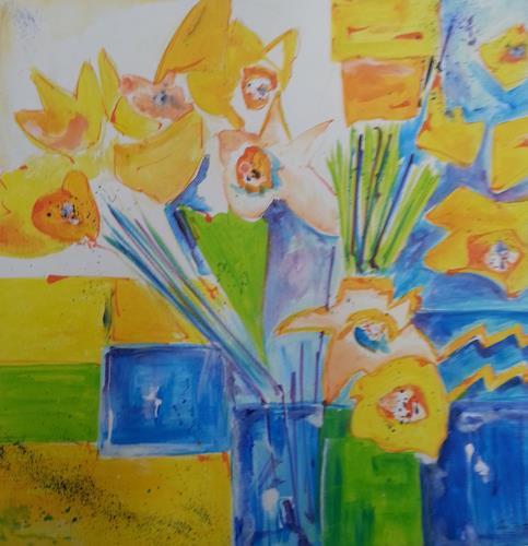 Jean, Frühling, Pflanzen: Blumen, Gegenwartskunst