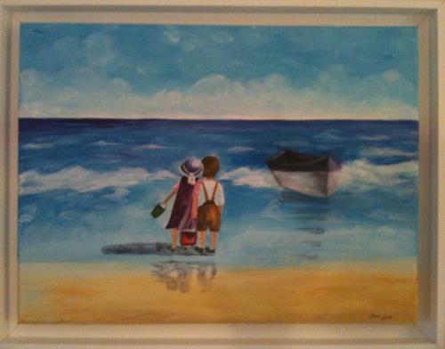 Jean, Am Meer, Menschen: Paare, Gegenwartskunst