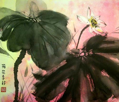 Jean, Lotus, Pflanzen: Blumen, Pop-Art, Expressionismus