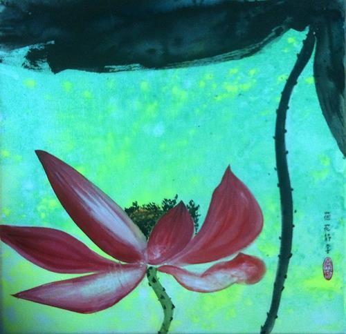 Jean, Lotus, Pflanzen: Blumen, Gegenwartskunst