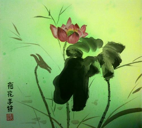 Jean, Lotus, Pflanzen: Blumen, Pop-Art