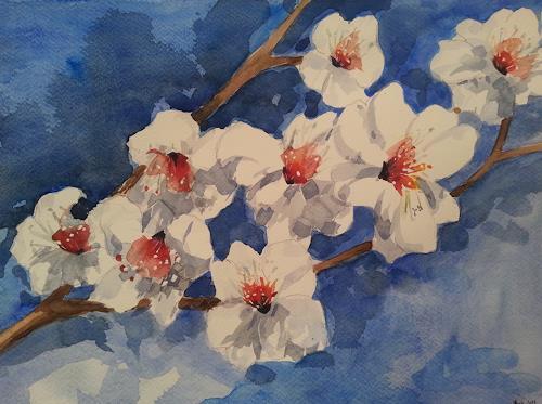 Jean, Mandelblüte, Pflanzen: Blumen, Gegenwartskunst