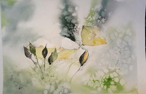 Jean, Gelber Mohn, Pflanzen: Blumen, Gegenwartskunst, Expressionismus