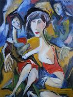 Doleta-Kaminskiene-Abstraktes-Menschen-Gruppe-Moderne-Expressionismus-Abstrakter-Expressionismus
