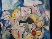 Doleta-Kaminskiene-Abstraktes-Menschen-Frau-Moderne-Abstrakte-Kunst