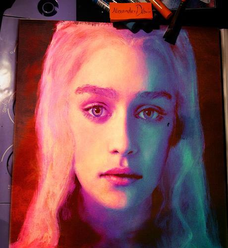 Alexander Déboir, Portrait of Daenerys Targaryen, Menschen: Porträt, Expressionismus