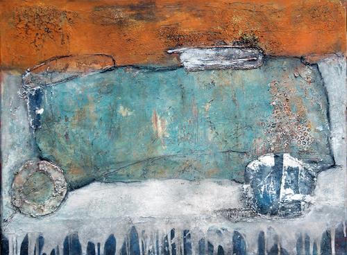 Magdalena Oppelt, Zeitreise, Abstraktes, Verkehr: Auto, Abstrakte Kunst, Expressionismus