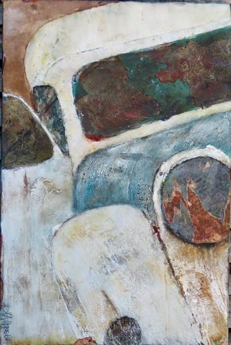 Magdalena Oppelt, Boogie woogie, Abstraktes, Verkehr: Auto, Abstrakte Kunst