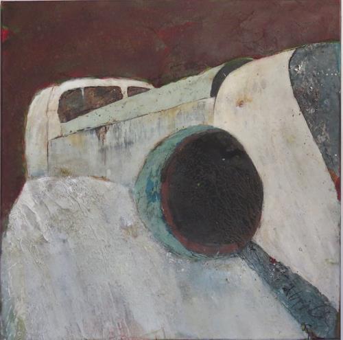 Magdalena Oppelt, Bella, Dekoratives, Verkehr: Motorrad, Konkrete Kunst, Abstrakter Expressionismus
